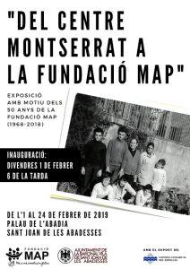 cartell exposició montserrat fundació map sant joan abadesses 50 anys map