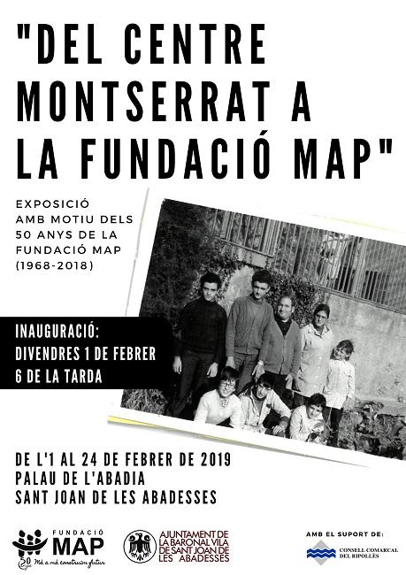 cartell exposició montserrat fundació map sant joan abadesses