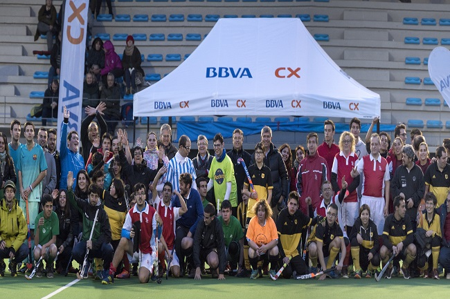 Participants del clínic BBVA hockey