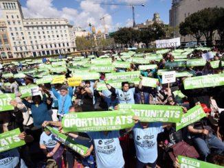 barcelona manifestació discapacitat intel·lectual drets