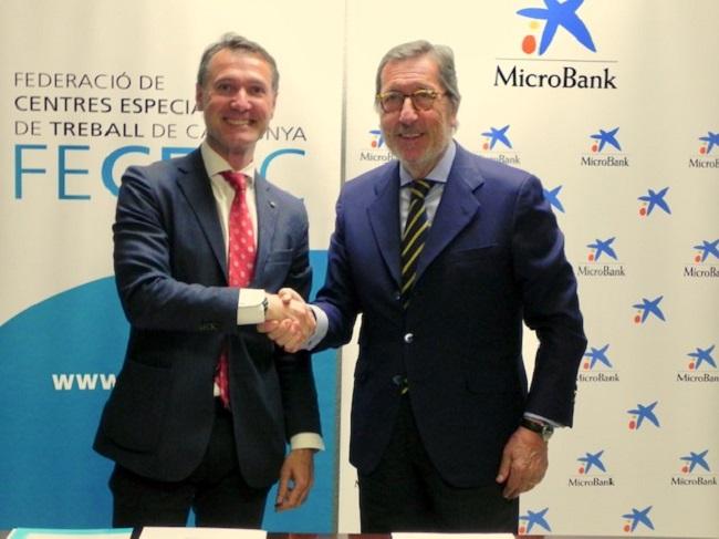 Conveni de col·laboració de la FECETC i MicroBank per finançar el desenvolupament de les empreses socials