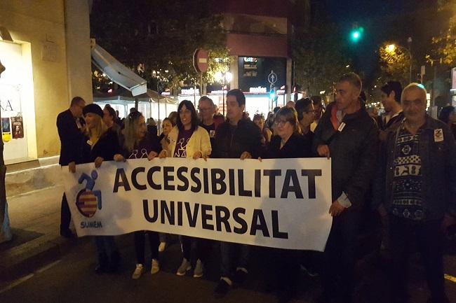 sumem ciutat marxa conculca dret accessibilitat universal