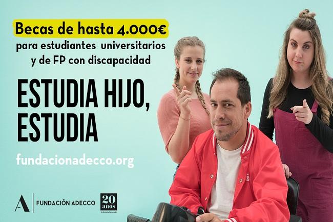 La Fundació Adecco convoca una nova edició de les beques per a estudiants de FP i universitaris amb discapacitat