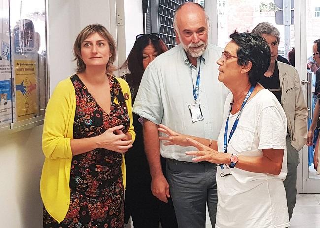 La consellera de Salut visita les noves instal·lacions del Cent