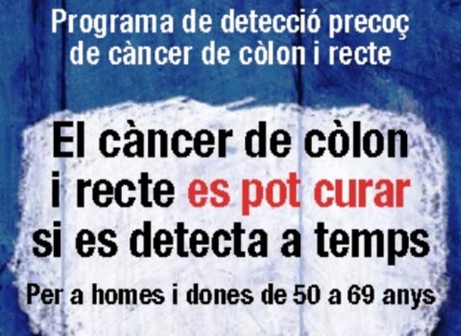 Més de 23.000 persones a Lleida participen en 2018 al Programa de Detecció Precoç de Càncer de Còlon i Recte