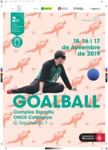 Cartell del trofeu de goalball // Foto: FCECS
