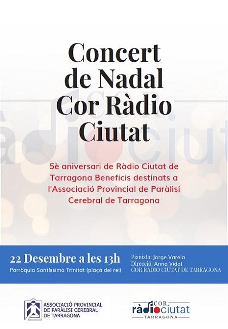 El Cor Ràdio Ciutat de Tarragona ofereix un nou concert solidari de Nadal a benefici de La Muntanyeta