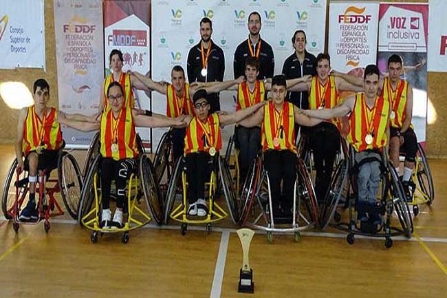 catalunya campiona espanya edat escolar sub 18 basquet cadira rodes