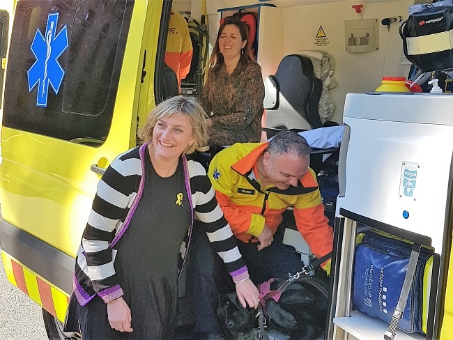 presentació sistema retencio ambulancies gossos guia