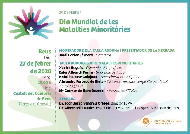 Xerrada i una taula rodona a Reus per contribuir a donar ressò del Dia de les Malalties Minoritàries