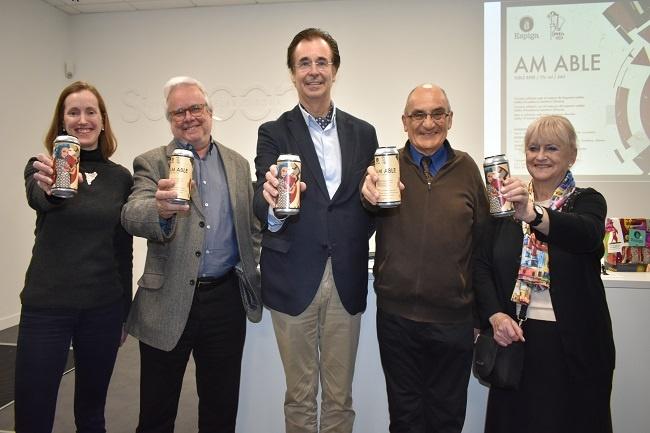 Es presenta a Girona la cervesa AM ABLE, un projecte solidari per recaptar fons per la recerca en l'autisme