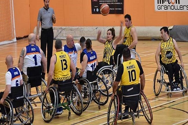 partit de basquet en cadira de rodes