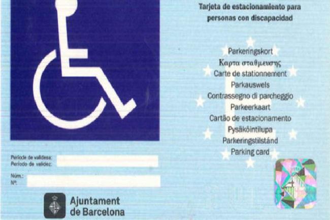 barcelona validesa targeta aparcament persones discapacitat