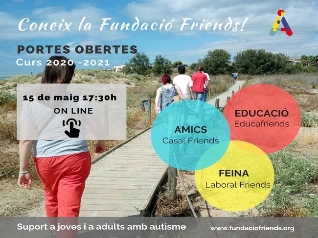 cartell jornada portes obertes online fundacio friends