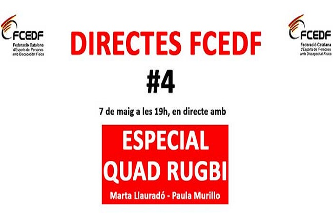 El quad rugbi serà el protagonista del quart i darrer #DirectesFCEDF