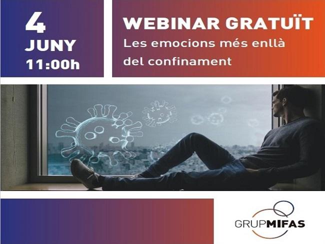 Webinar gratuït de MIFAS sobre 'Les emocions més enllà del confinament'