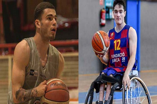 biel carbo i oscar onrubia basquet cadira rodes