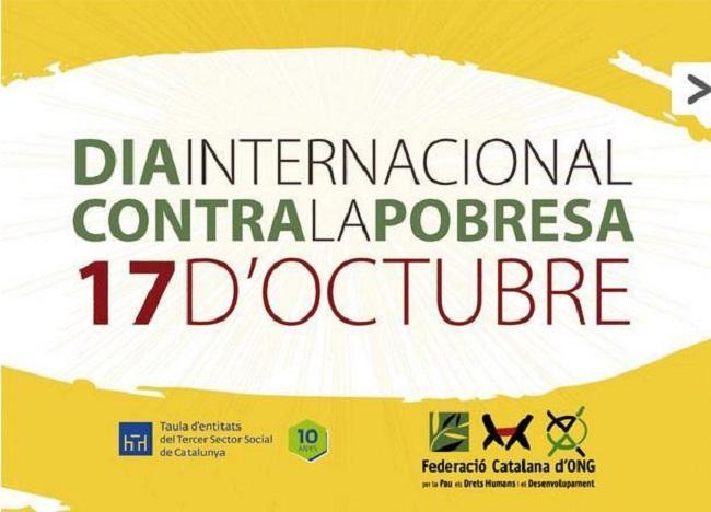 cartell dia internacional de la pobresa