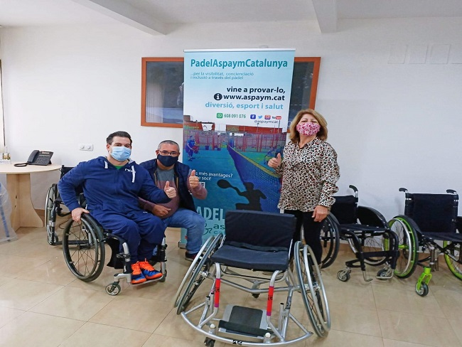 cessio cadira rodes padel adaptat aspaym