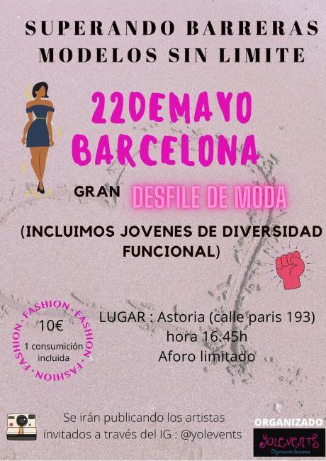 cartell de la desfilada de moda inclusiva