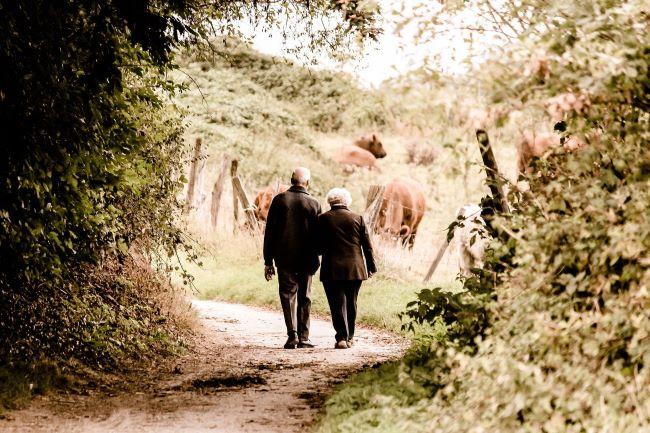 persones grans passejant