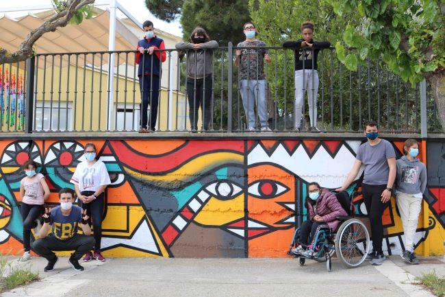 mural escola educacio especial grup alba