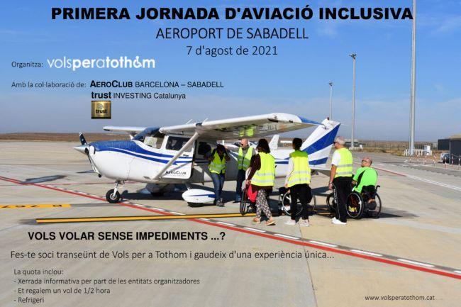 cartell jornada aviació inclusiva aeroport de sabadell