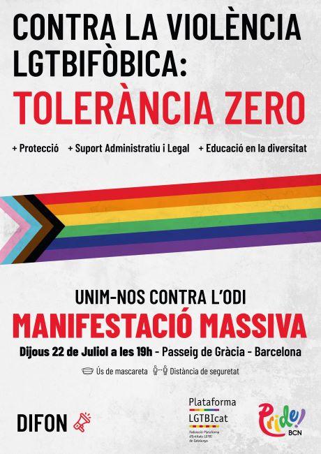 cartell manifestacio contra atacs lgtbifòbics