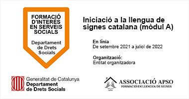 curs iniciació en llengua de signes catalana associacio apso
