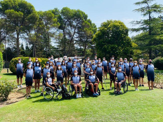 membres de la delegació dels jocs paralímpics de toquio