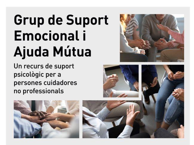 cartell grup de suport emocional persones cuidadores