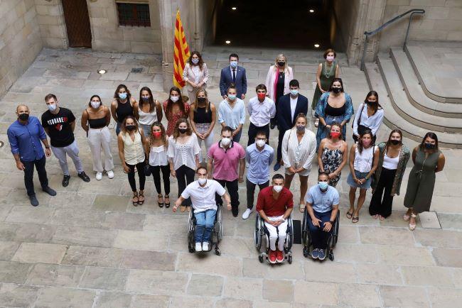 pere aragonès a la recepció dels esportistes paralímpics