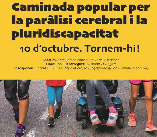 caminada popular paralisi cerebral barcelona