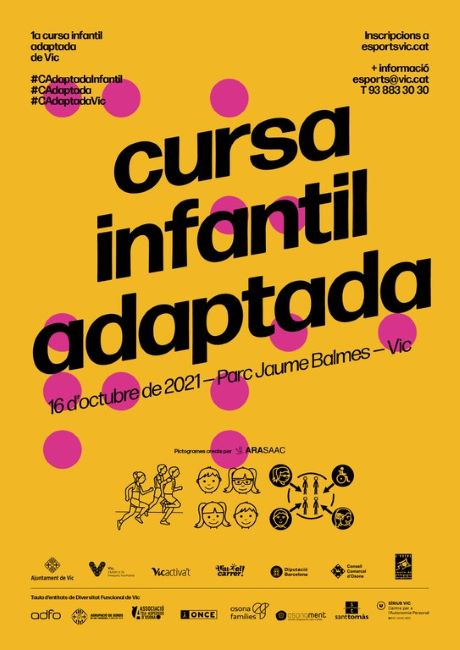 cartell primera cursa infantil adaptada vic