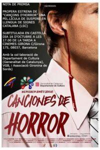 film cançons d'horror llengua signes catalana